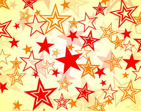 Illustration of red and orange stars background