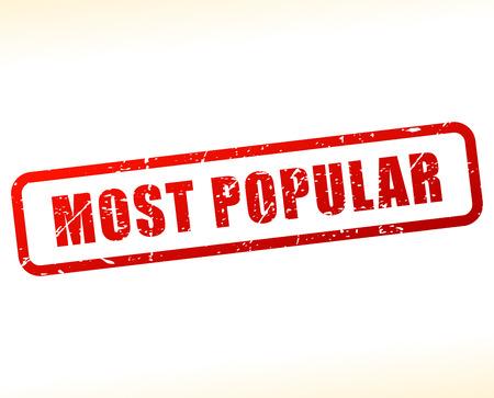 most popular: Illustration of most popular stamp on white background