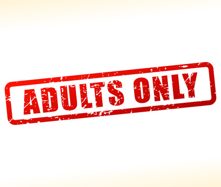 purely: Illustration of adults only stamp on white background