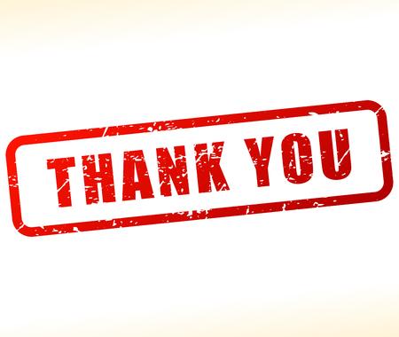 gratefulness: Illustration of thank you stamp on white background