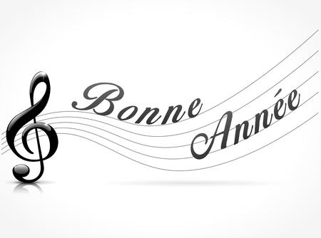 새 해 복 많이 음악 개념에 대 한 프랑스어 번역