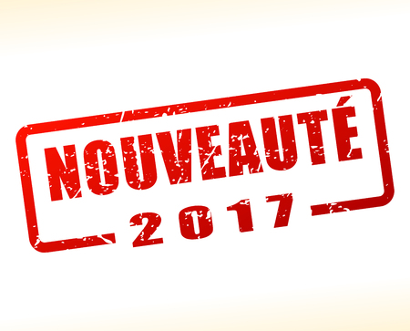 french translation for novelty buffered on white background
