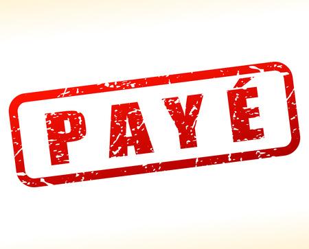 settled: Illustration of paid buffered on white background