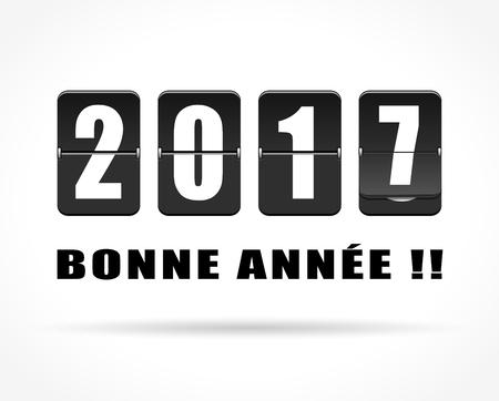 행복 한 새 해 개념에 대 한 프랑스어 번역