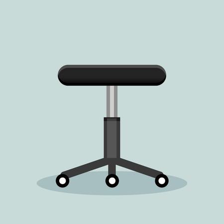 stool: Illustration of office stool on grey background