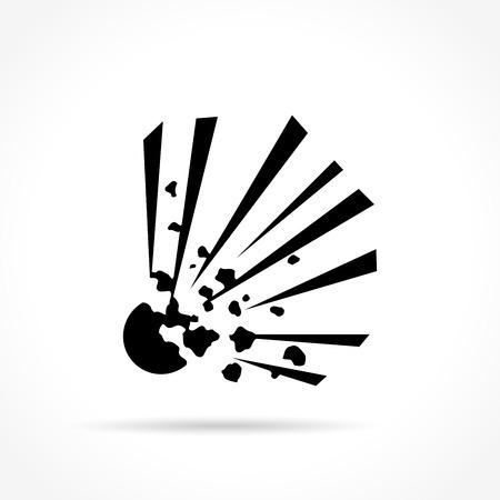 explosion hazard: Illustration of explosive icon on white background