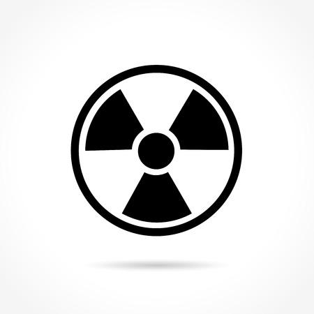 plutonium: Illustration of radiation icon on white background