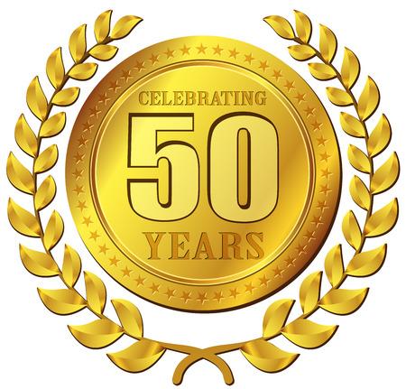 Illustration de fête d'anniversaire icône de l'or conception