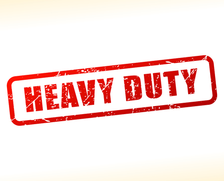 heavy duty: Illustration of heavy duty text buffered on white background Illustration