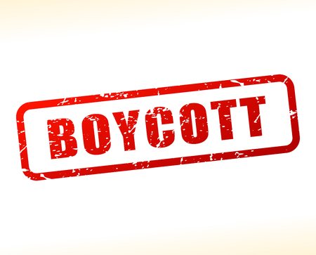 boycott: Illustration of boycott text buffered on white background