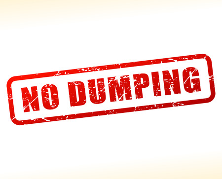 dumping: Illustration of no dumping text buffered on white background Illustration