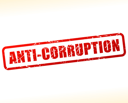 immoral: Illustration of anti corruption text buffered on white background