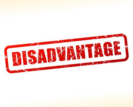 drawback: Illustration of disadvantage text buffered on white background