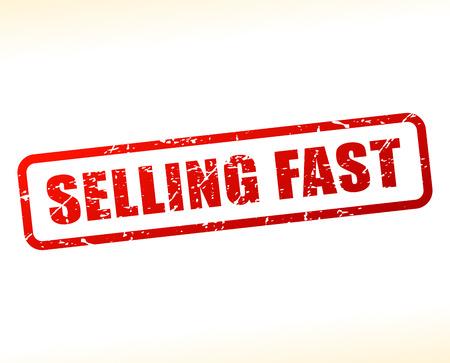 Illustration of selling fast text buffered on white background Векторная Иллюстрация