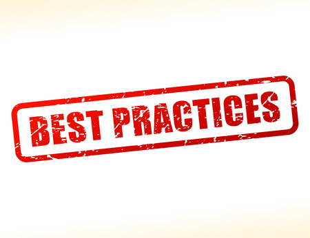 practices: Illustration of best practices text buffered on white background