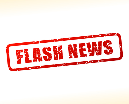 Illustration of flash news text buffered on white background