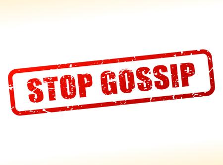 Illustration von Stop-Klatsch Text auf weißem Hintergrund gepuffert