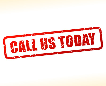 call us: Illustration of call us today text buffered on white background Illustration