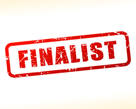 finalist: Illustration of finalist text buffered on white background