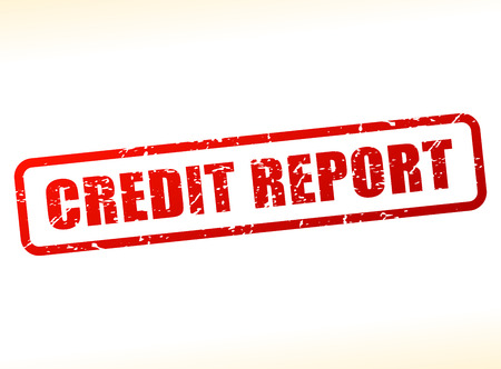 credit report: Illustration of credit report text buffered on white background Illustration