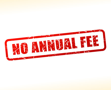 honorarium: Illustration of no annual fee text buffered on white background Illustration