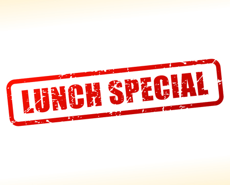 Illustration of lunch special text buffered on white background