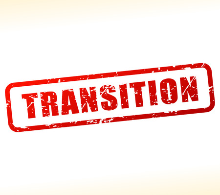 transitional: Illustration of transition text buffered on white background Illustration