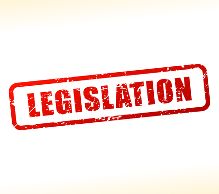 governing: Illustration of legislation text buffered on white background