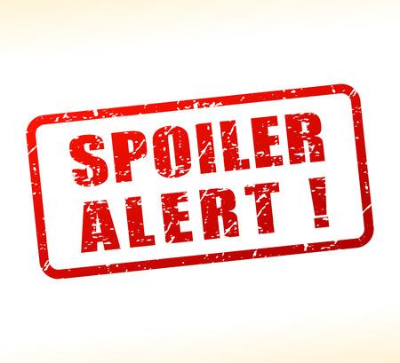 Illustration of spoiler alert text buffered on white background
