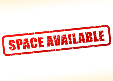 Illustration of space available text buffered on white background