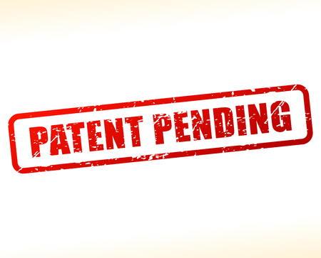 Illustration of patent pending text buffered on white background