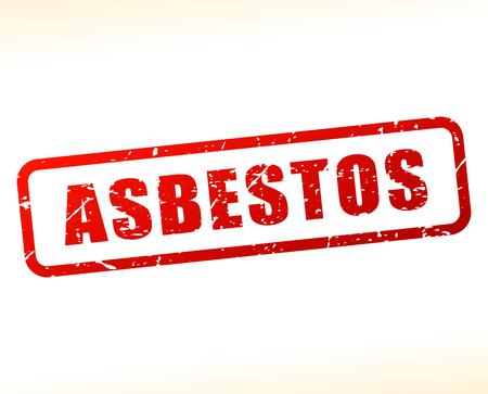 mesothelioma: Illustration of asbestos text buffered on white background