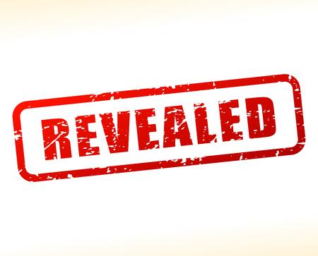 revealed: Illustration of revealed text buffered on white background