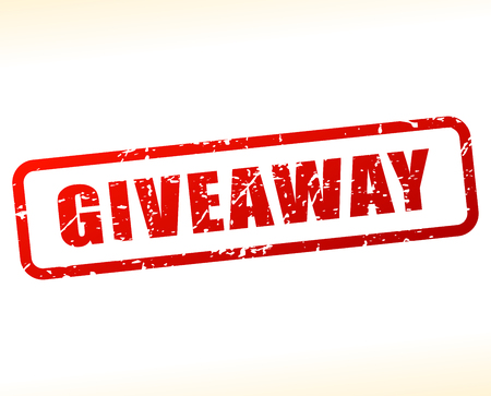 giveaway: Illustration of giveaway text buffered on white background