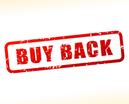 astern: Illustration of buy back text buffered on white background Illustration