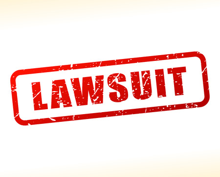 lawsuit: Illustration of lawsuit text buffered on white background Illustration