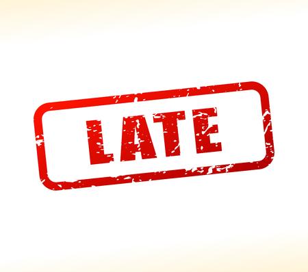 owe: Illustration of late text buffered on white background Illustration