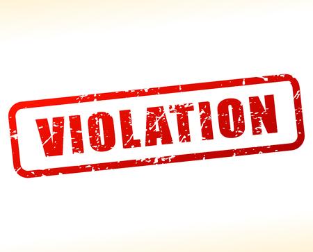 transgression: Illustration of violation text buffered on white background Illustration