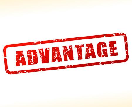 advantage: Illustration of advantage text buffered on white background