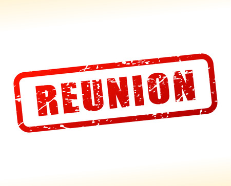 reunion: Illustration of reunion text buffered on white background