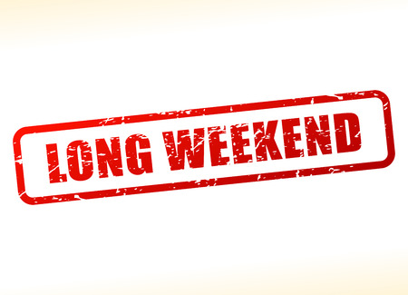 long weekend: Illustration of long weekend text buffered on white background