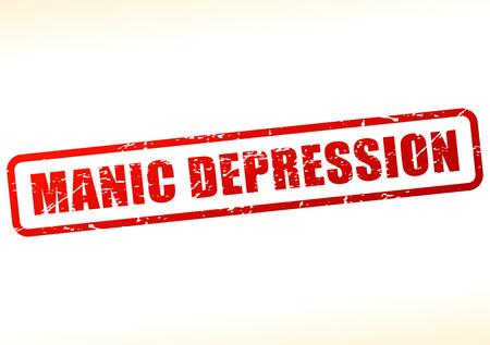 manic: Illustration of manic depression text buffered on white background