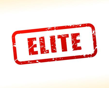 elite: Illustration of elite text buffered on white background Illustration