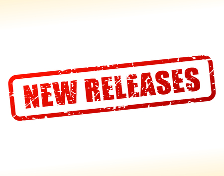 deliverance: Illustration of new releases text buffered on white background