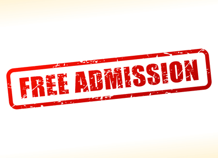 Illustration of free admission text buffered on white background Vector Illustration