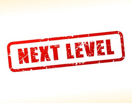background next: Illustration of next level text buffered on white background