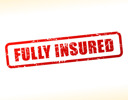 insured: Illustration of fully insured text buffered on white background