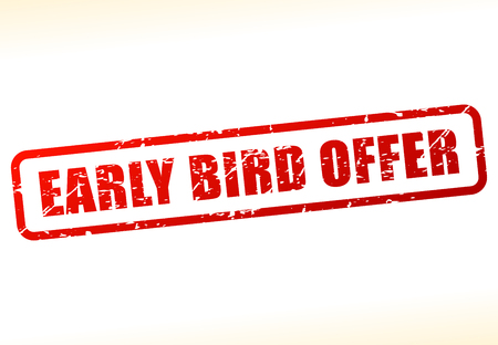 Illustration of early bird offer text buffered