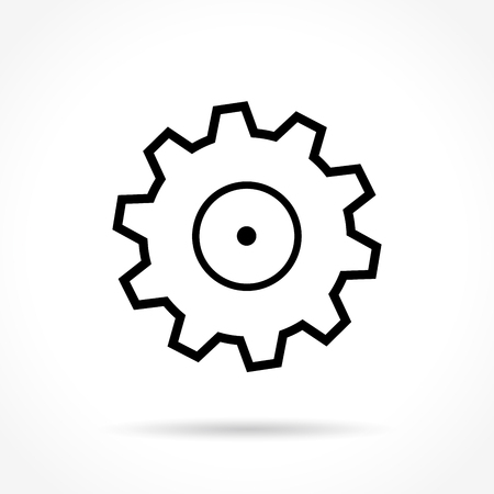 preference: Illustration of wheel thin line icon design