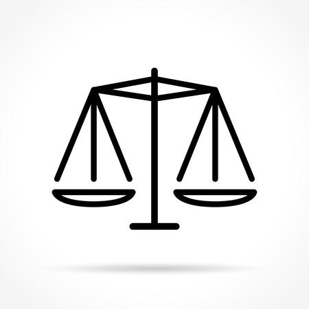 Illustration of equality thin line icon design